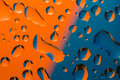 Blue- Orange Water Drop Royalty Free Stock Photo