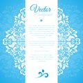Blue ornament petal with space for text this is file of eps format Royalty Free Stock Photo