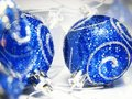 Blue ornaments Stock Photos