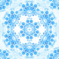 Blue ornate vector lacy seamless pattern in gzhel style Stock Images