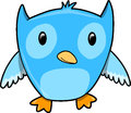 Blue Owl Vector Illustration Stock Images