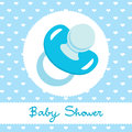 Blue Pacifier Design Stock Photos