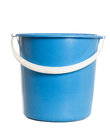 Blue pail with white handle Royalty Free Stock Images
