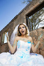 Blue Paint Bride Stock Images