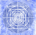 Blue painted mandala Royalty Free Stock Photo