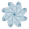 Blue paisley mandala
