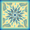 Blue paisley scarf rotate design for and bandana Royalty Free Stock Image