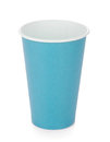 Blue paper coffee cup Royalty Free Stock Photography