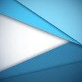 Blue paper layers abstract vector background. Royalty Free Stock Photo