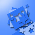 Blue paper stars sliced on a background Royalty Free Stock Photo