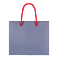 Blue paperboard bag Royalty Free Stock Photo