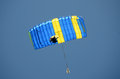 Blue parachute Royalty Free Stock Photography