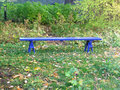 Blue park bench Royalty Free Stock Photo