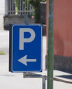 blue parking sign Royalty Free Stock Photo