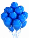 Blue party ballooons Royalty Free Stock Images