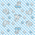 Blue pastel baby background Royalty Free Stock Photo