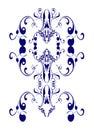 Blue pattern vintage white Royaltyfri Fotografi
