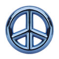 Blue Peace Sign Royalty Free Stock Photo