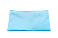 blue pencil case on white Royalty Free Stock Photo