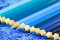 Blue Pencil Crayons Royalty Free Stock Photos