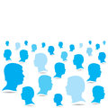 Blue people crowd background Stock Image
