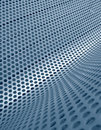 Blue perforated metallic grid Stock Images
