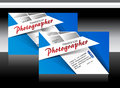 Blue photographer business card vector illustration Royalty Free Stock Photography