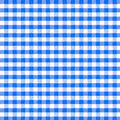 Blue picnic tablecloth seamless pattern real of Stock Images