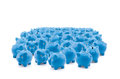 Blue piggy banks Royalty Free Stock Photo