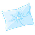 Blue pillow isolated illustration on white background Royalty Free Stock Image