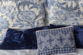 Blue Pillows Royalty Free Stock Photo