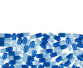 Blue pills isolated on white background background Stock Photography