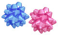 Blue And Pink Bows