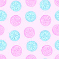 Blue and pink citruses Royalty Free Stock Photo