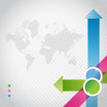 Blue pink and green arrow infographics illustration design over white Stock Photos