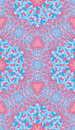 Blue pink paisley ornament background for textile Royalty Free Stock Images