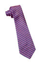 Blue and pink strips business neck tie Royalty Free Stock Photo