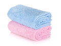 Blue and pink towels Stock Images