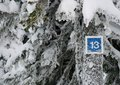 Blue Piste 13 Royalty Free Stock Photos