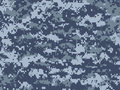 Blue pixels camouflage Royalty Free Stock Photo