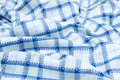 Blue Plaid fabric Royalty Free Stock Photo