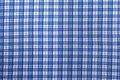 Blue Plaid Texture Stock Image