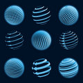 Blue planet icons. Royalty Free Stock Photo