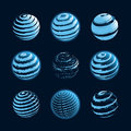 Blue planet icons Royalty Free Stock Photo