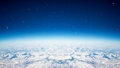 Blue planet sky Royalty Free Stock Photo