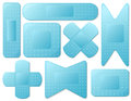 Blue plasters illustration of the on a white background Royalty Free Stock Photos