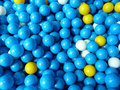 Blue plastic balls colorful that children love Royalty Free Stock Photography