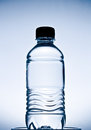 Blue plastic bottle small water Stock Image