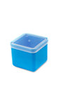 Blue plastic box Royalty Free Stock Images