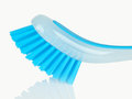 Blue plastic brush isolated on white background Royalty Free Stock Images